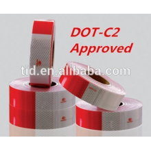 """DOT Reflective Tape - Red and White - DOT-C2 Conspicuity Tape - COMMERCIAL ROLL - 2"""" inch x 150' FEET - Auto Car/Truck/Trailer/B"""