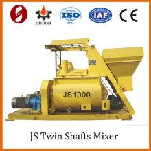 Venta caliente 1m3 del mezclador concreto doble del eje de 1000L