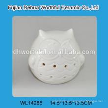 Búho de la porcelana de la calidad superior 2016 con la luz llevada para la decoración casera