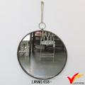 Pequeño vestido de metal enmarcado espejo vintage francés