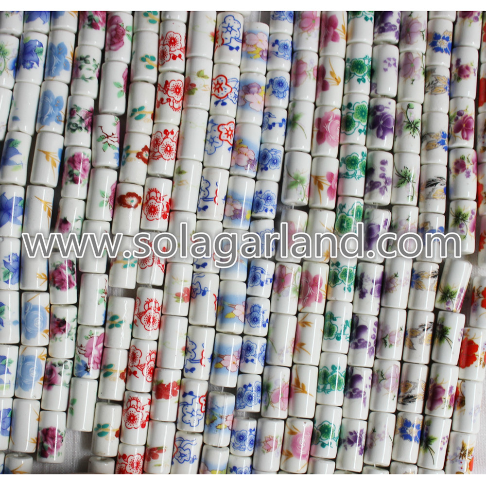 Cylinder Ceramic Bead Charms