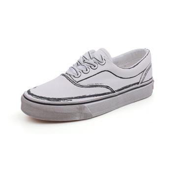 Platform White Women Canvas Shoes