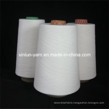 Raw White Ring Spun Polyester Yarn Knitting Yarn