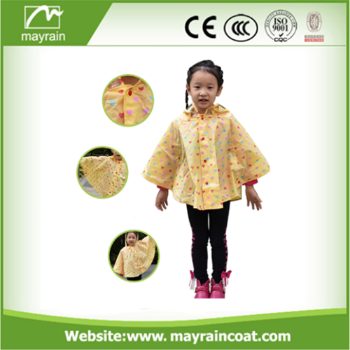 Poncho with Animal Printing