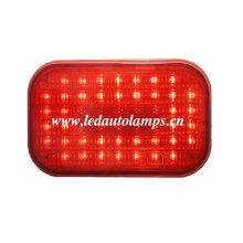 Luz do caminhão do diodo emissor de luz com 50LEDs & lente vermelha da listra