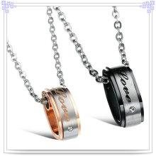 Pingente de moda de aço inoxidável jóias colar amante (nk134)