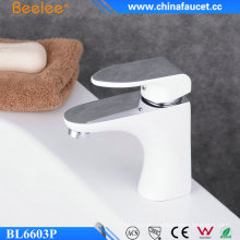 Modern Brass Single Handle Bathroom Paint Faucet