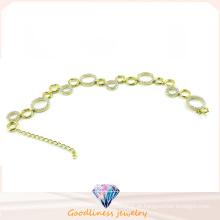 Jóia da forma da mulher CZ 925 pulseira de prata (BT6598)