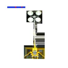 Torre de iluminação do reboque do motor do mastro manual 5.5M