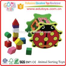 FSC Holz 5 Formblöcke Kleinkind Aktion Tier Sortierung Spielzeug