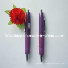 Customized Design Metal Ball Pen with Rubber Grip (LT-Y025)
