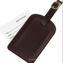 Presente promocional Couro ID Nome Etiqueta da bagagem (B1004)
