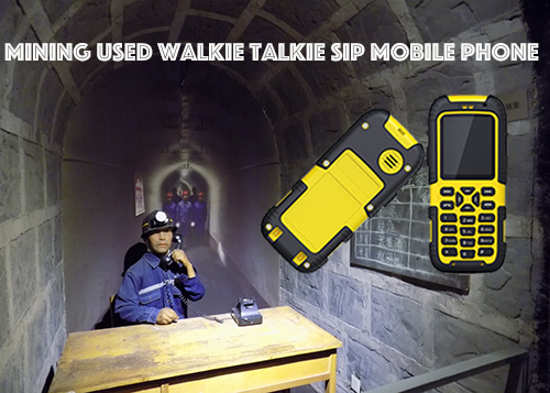 Mining Used Walkie Talkie SIP mobile Phone