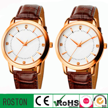 Quartz Movement 3ATM Leather Strap Unisex Watch
