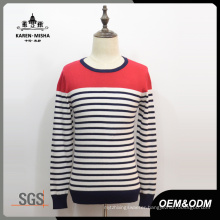 Men′s Fashion Striped Knit Sweater