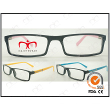 Classical and Hot Selling with Metal Decoration for Unisex Plastic Reading Glasses (LZ903)