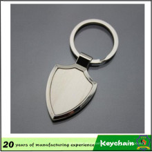 Custom Metal Blank Shield Shape Key Chain