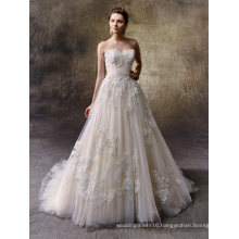 Strapless Lace Ball Bridal Wedding Dress