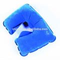 Almohadilla de plástico del cuello de PVC inflable de viaje