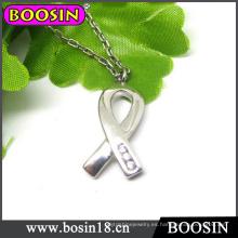 Collar de encanto de cinta de conciencia de cáncer de mama # 17151