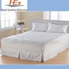 100% poliéster acolchoado colchão elástico / protetor de colchão