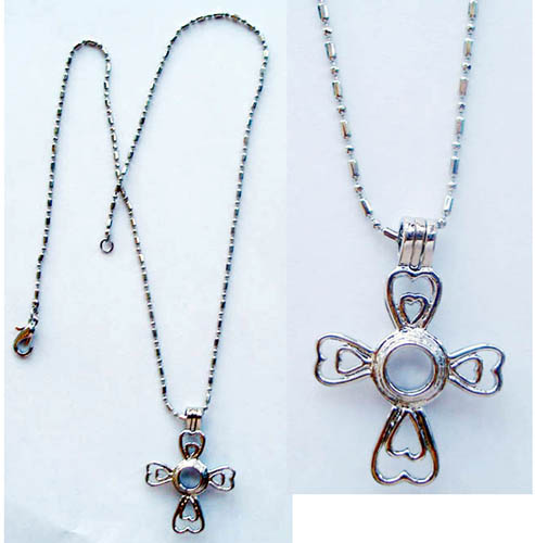 Cross Shaped Cage Pendant