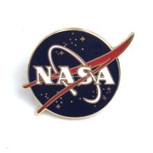 Emblema motivacional personalizado com pino de esmalte rígido da NASA