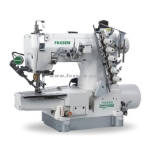 Direct Drive Cylinder Bed Interlock Sewing Machine with Top and Bottom Thread Trimmer