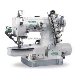 Bezpośrednie napędzanie cylindra ściegowe maszyna do szycia z górnym i dolnym trymerem gwintu