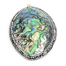 Fashion Abalone Paua Shell Charms Bead Pendant Necklace Jewelry