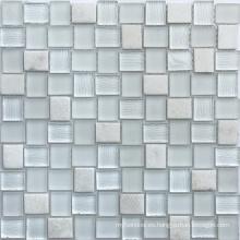 Mosaico del vidrio cristalino de mezcla del solo color al por mayor para el cuarto de baño