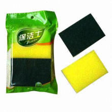 Sponge Cleaner, Available in Yellow, Customized Sizes are Accepted