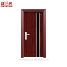Puerta de acero superior puerta de entrada de acero de hierro forjado diseño de la puerta de seguridad con parrilla