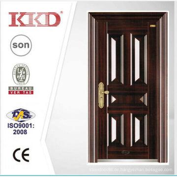 2014 Design neue Sicherheit Stahltür KKD-106 mit neuen Pait Haupteingang Made In China