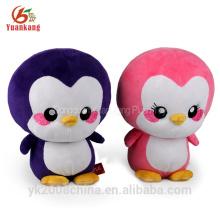 Custom plush mini pink soft stuffed penguin toys