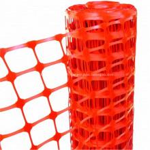 Filet de sécurité en plastique de barrière colorée