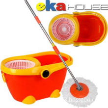 Beautiful Double Drive 360 Degree Spin Mop with 2 Microfiber Mop Head