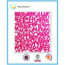 PVC/EVA glitter alphabet letter sticker