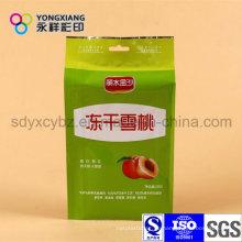 Kundenspezifische Trockenfrucht Snack Food Verpackung Tasche mit Handloch