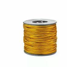 2mm metallic gold/silver elastic cord
