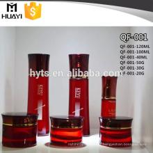 Bouteille en verre cosmétique de crème de visage de 40ml 100ml 120ml