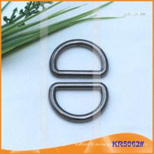 Tamaño interior 24mm Metal Hebillas, Regulador de metal, Metal D-Ring KR5062