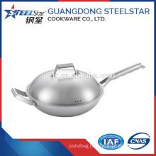 Stainless steel wok frying pan Single Handle wok pan