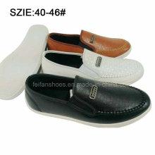 Скользит последняя мода Мужской дышащий PU туфли (MP16721-21)