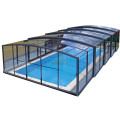 Couverture de piscine hexagonale rigide