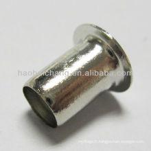Partie profonde d'embout d'acier inoxydable / rivet et partie d'opération de dessin / rivet utilisé pour le radiateur électrique de refroidisseur d'eau