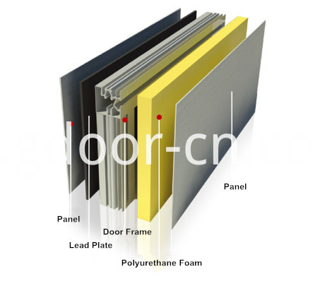 Hospital X-ray Operating Room, Aluminum Alloy Door Frames for Hermetic Doors