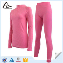 Body Underwear Jacquard Long Johns Underwear Set Corpo para Mulheres