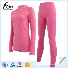 Body Shape Jacquard Warm Long Johns Set de ropa interior para mujeres