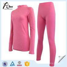 Body Shape Jacquard Warm Long Johns Underwear Set for Women